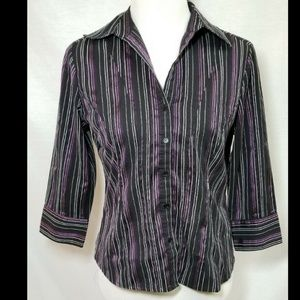 "Apt 9 Women's Purple Shirt - Petite Small - 38"" Ch"